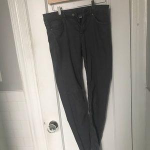 Grey low rise skinny jeans